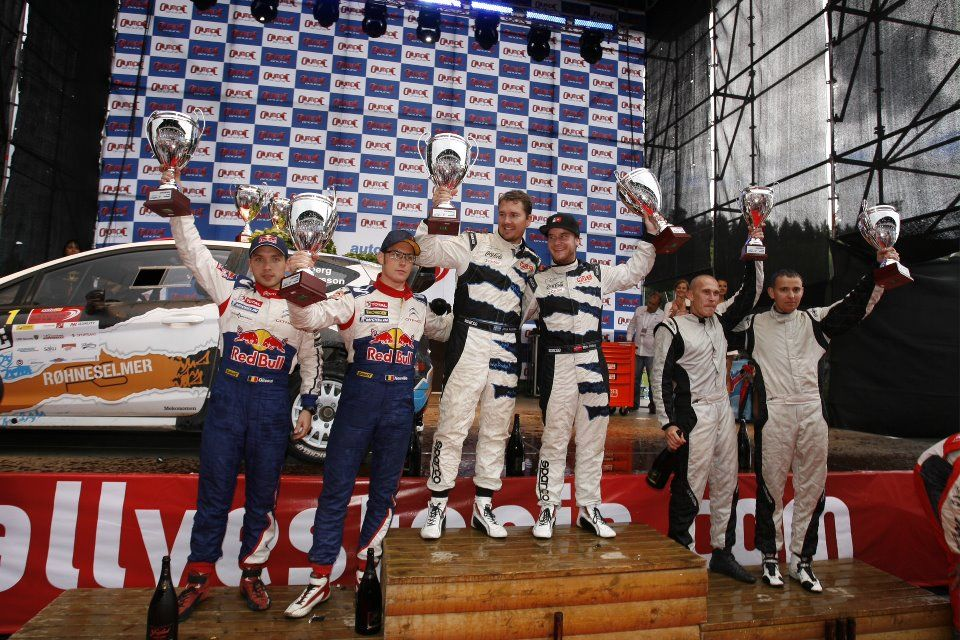 The podium at auto24 rally estonia