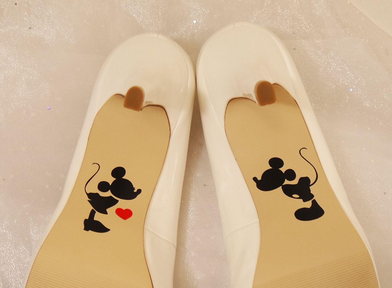 Mickey And Minnie Wedding Shoe Decals High Heel For Disney Vinyl Decal