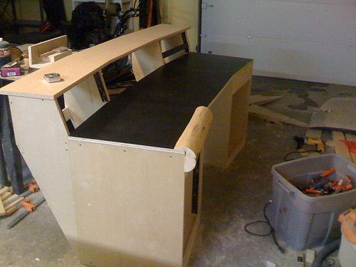 how to build a studio desk for less than 200 it s not perfect but