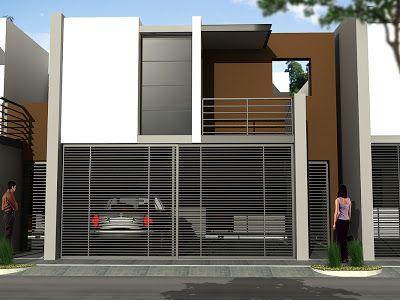 Fachadas de Casas Modernas Fachada contemporánea simple Juan - fachadas contemporaneas