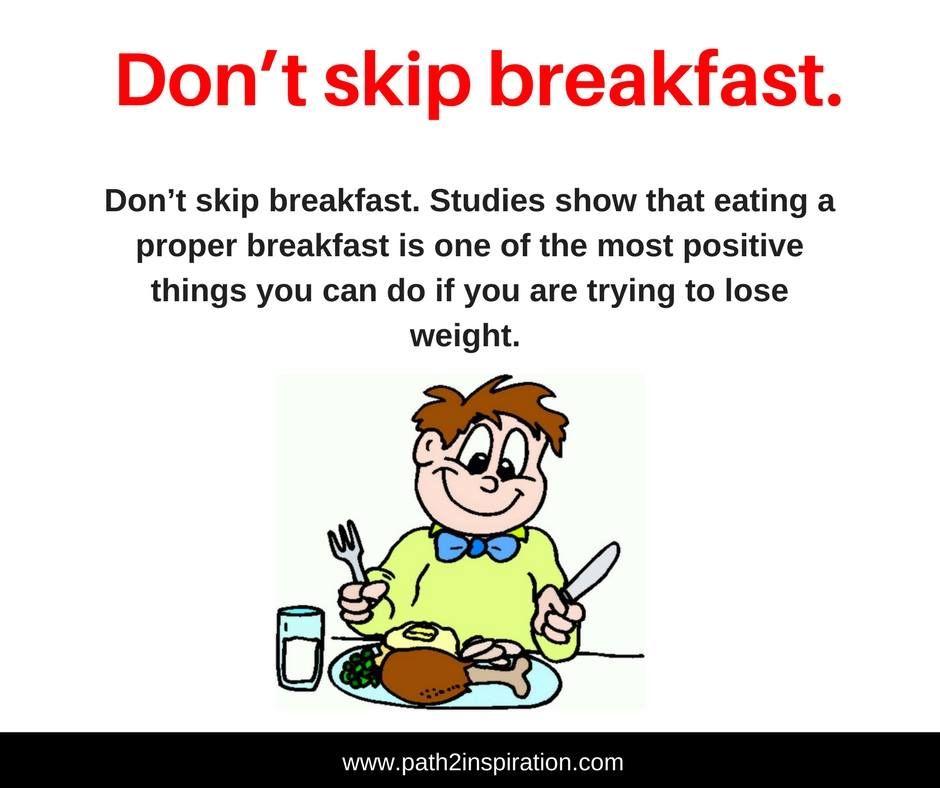 Breakfast Skippers Tend To Gain Weight. A Balanced