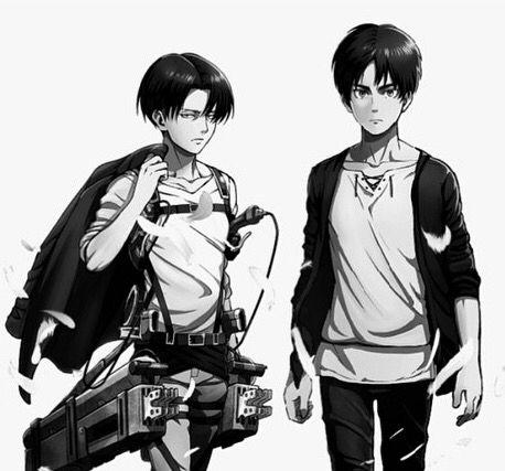 Eren and Levi official art