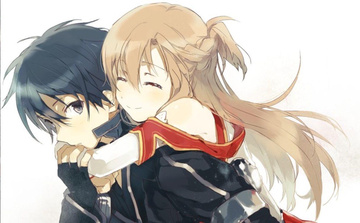 Asuna and Kirito from Sword Art Online! XD