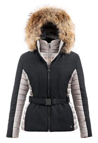 Poivre Blanc Stretch Faux Fur Ladies Ski Jacket Black Champagne RRP ... f7dfd1138a52b