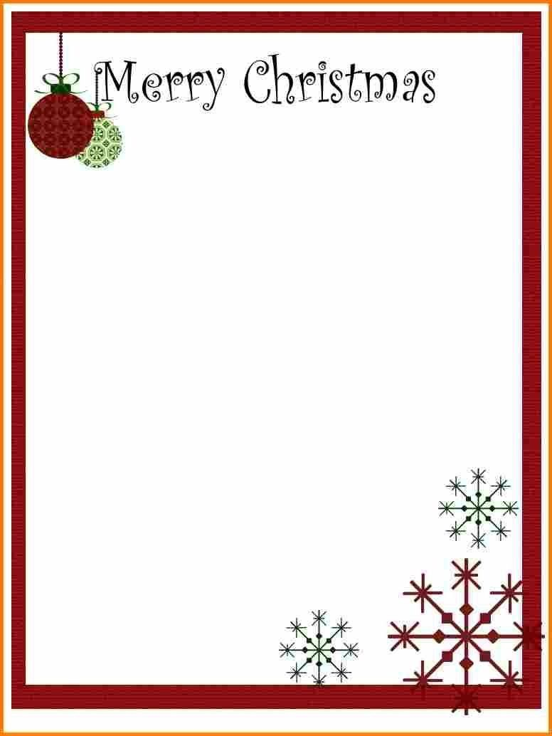Free Christmas Letter Templates 30 Christmas Letter Templates Free ...