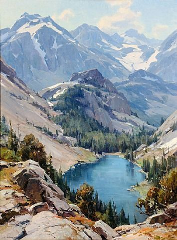 Clyde Aspevig Lot 269 In The High Country Landscape Art