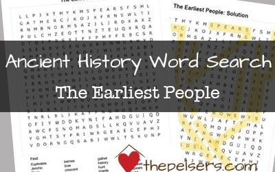 Photo of FREE Ancient History Word Search: The Earliest People & Egyptians Live on the Nile River