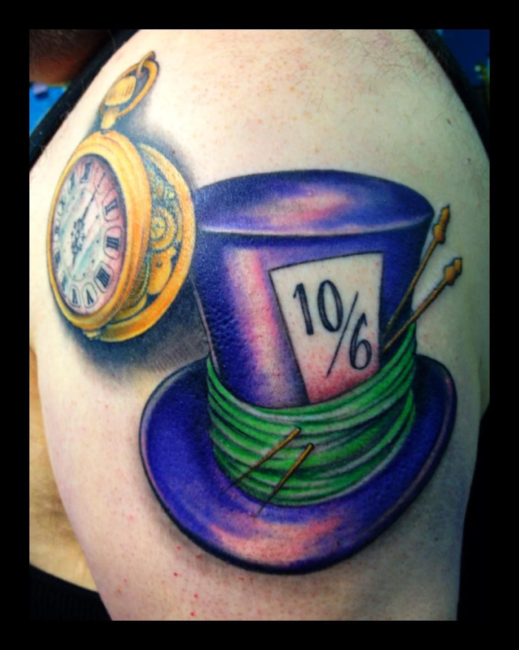 ad428f07a Mad hatter hat tattoo   Tattoos, unique pictures & things   Mad ...