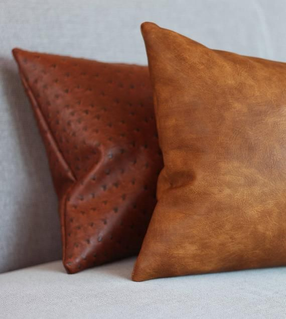 Strange Cognac Brown Faux Leather Throw Pillow Cover Tan Pillow Andrewgaddart Wooden Chair Designs For Living Room Andrewgaddartcom