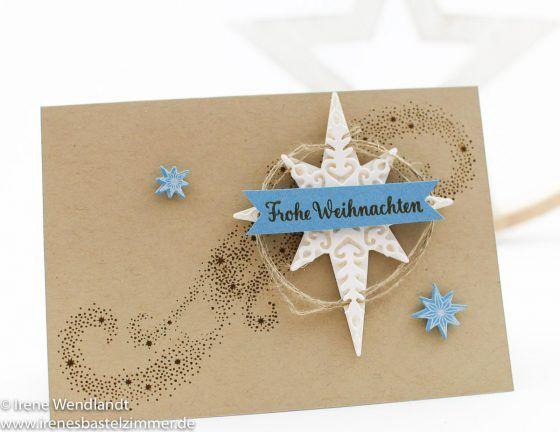 Weihnachtskarten Katalog.Sternenzauber Weihnachtskarte Su Star Of Light Weihnachtsstern