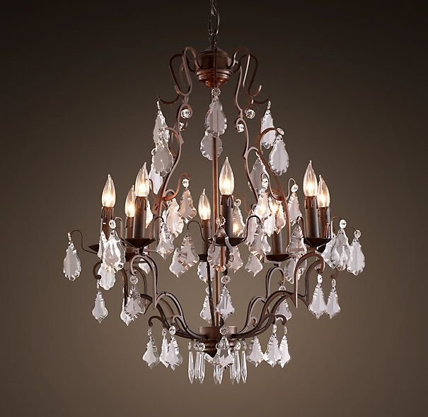 florian crystal chandelier small | chandeliers | restoration