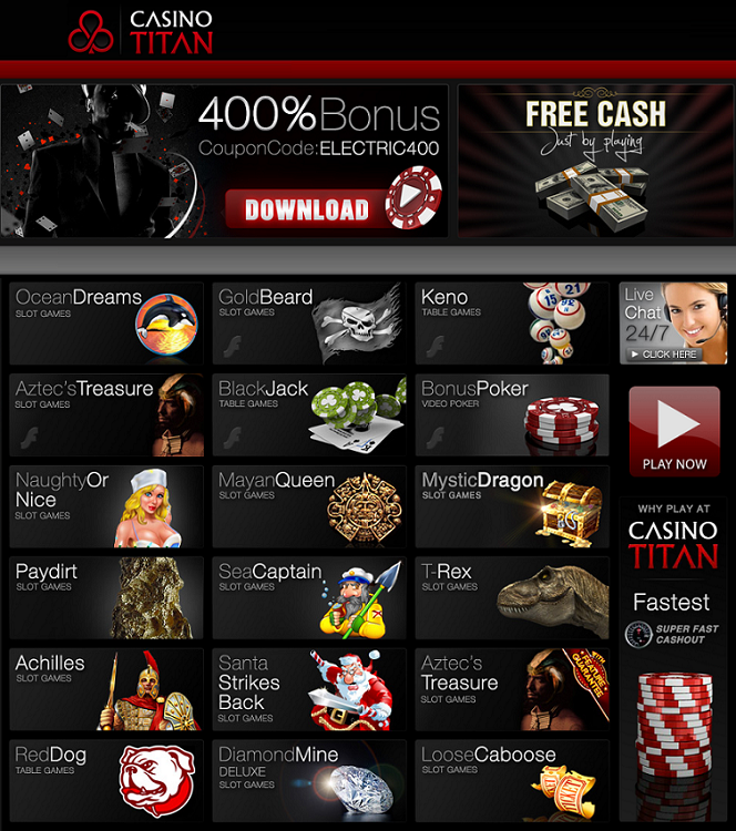 Hottest Real Time Gaming Deals at Casino Titan