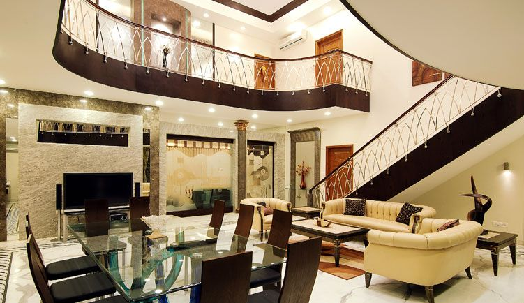 Contemporary Bungalow In India With A Touch Of Traditional Flavour