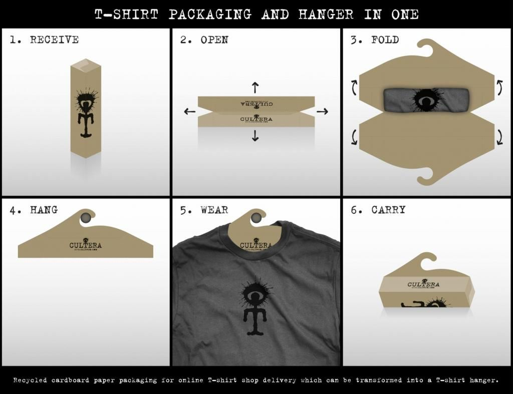 Design t shirt brand - T Shirt Packaging Cool And Clever Pd