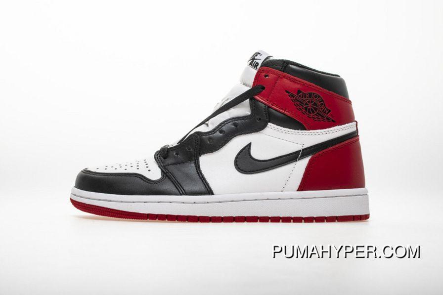 571f603f18d1 Black Toes Aj1 Full Grain Leather 555088 125 Air Jordan 1 OG High Black Toe  Super