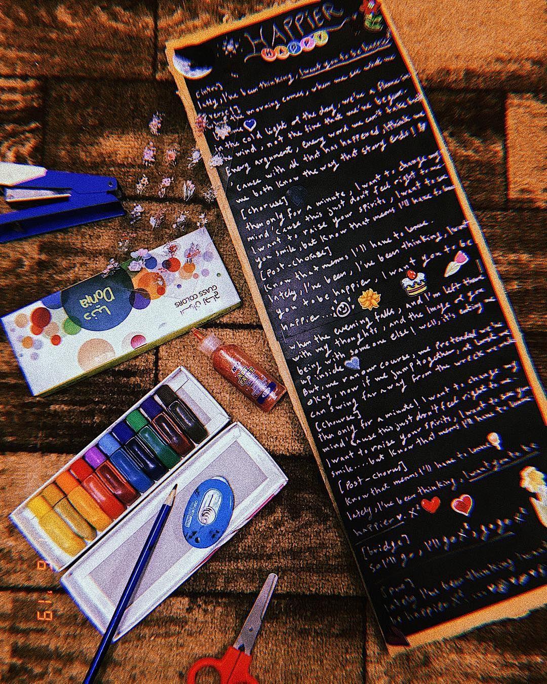 happier by marshmello ft bastille  is such a beautiful song. #crafting#colors#happier#marshmello#bastille#lyrics#diy#vintage#aesthetic#black #photography #retro#ig_masterpiece#ig_shotz #main_vision #master_shots #exclusive_shots#pixel_ig#photographyislife#worldbestgram  #iglobal_photographers #ig_great_pics #ig_myshot#shotwithlove#icatching#collectivelycreate#wow#handmade#art#inspiration