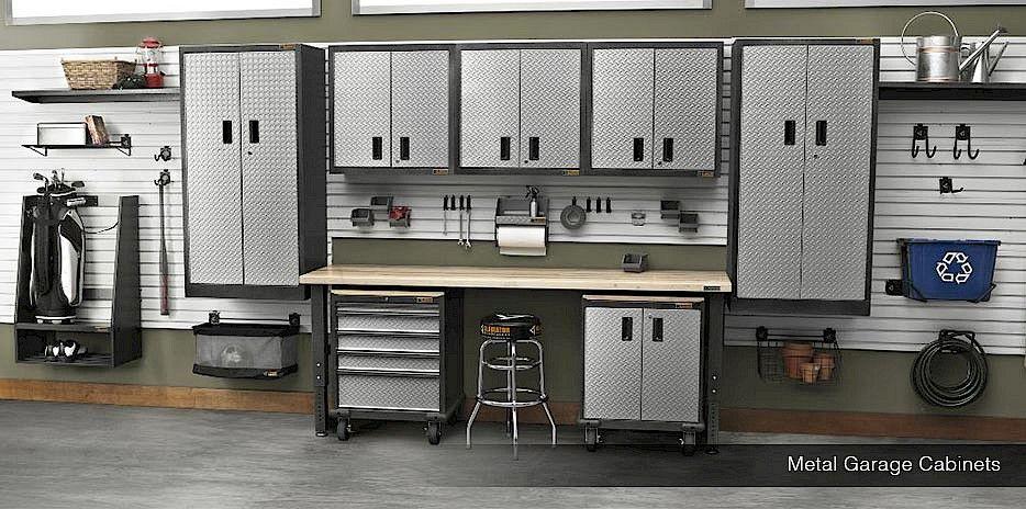 Image result for modular steel garage workbench | garage ...