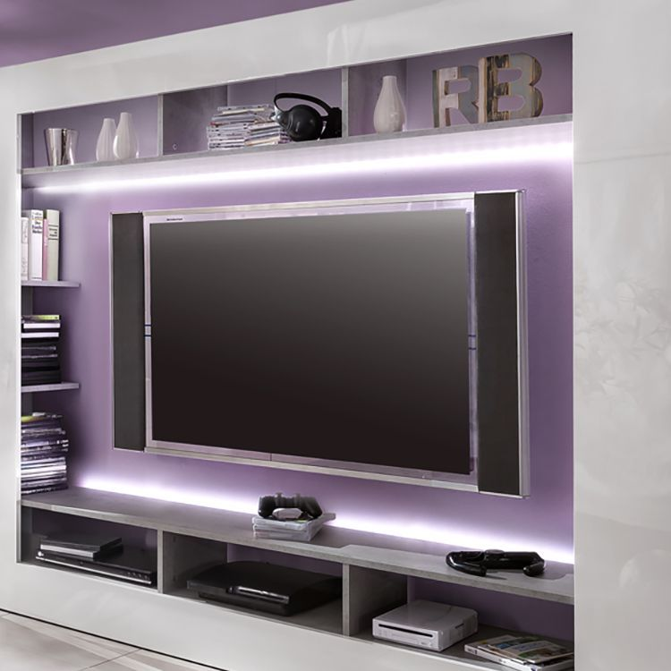 LED-Lichtschiene Seki (2er-Set) - Kalt Weiß, Trendteam Jetzt - led design wohnzimmer