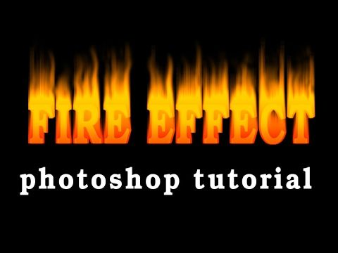 How to make Fire Text Effect Photoshop Tutorial On Fire Text Effect