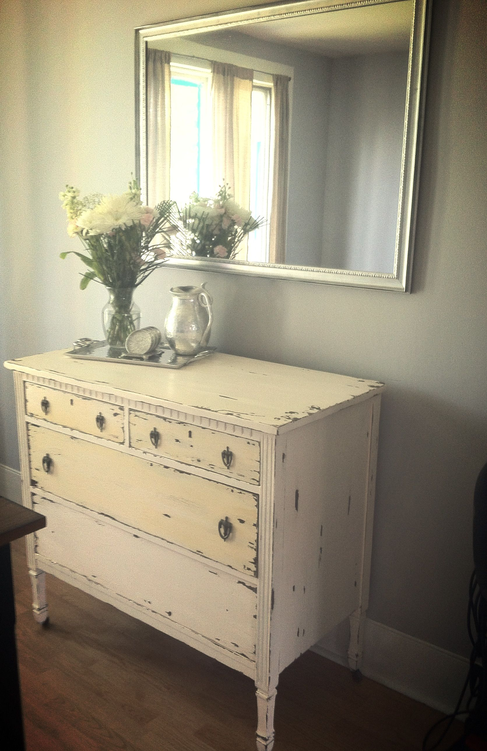 My shabby chic dinning room coming slowly together