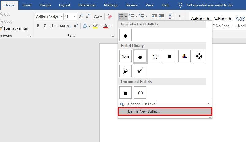 How To Create Cool Custom Bullet Point In Microsoft Word Custom