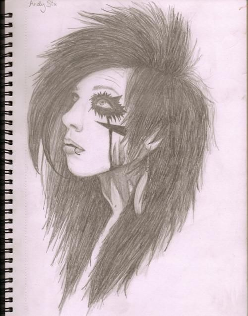 Andy Biersack I Bet Ikan Draw This Chalenge Accepted Black Veil Brides Black Veil Brides Andy Andy Biersack