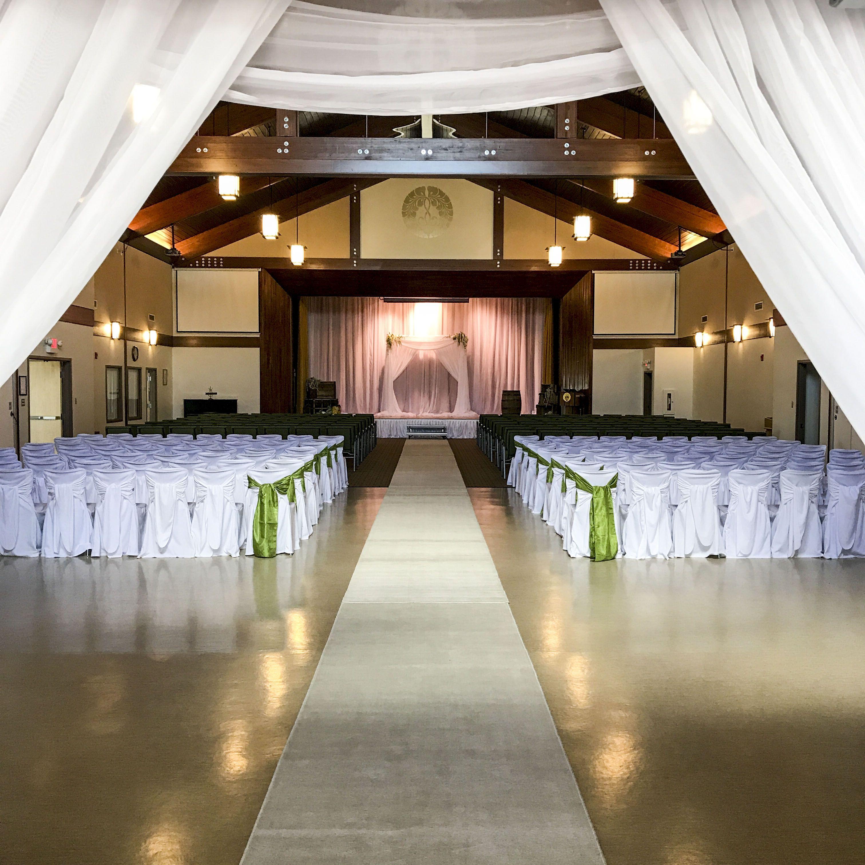 Wedding reception simple stage decoration  Wedding Ceremony at the Buddhist Temple lachefs lachefsdecor