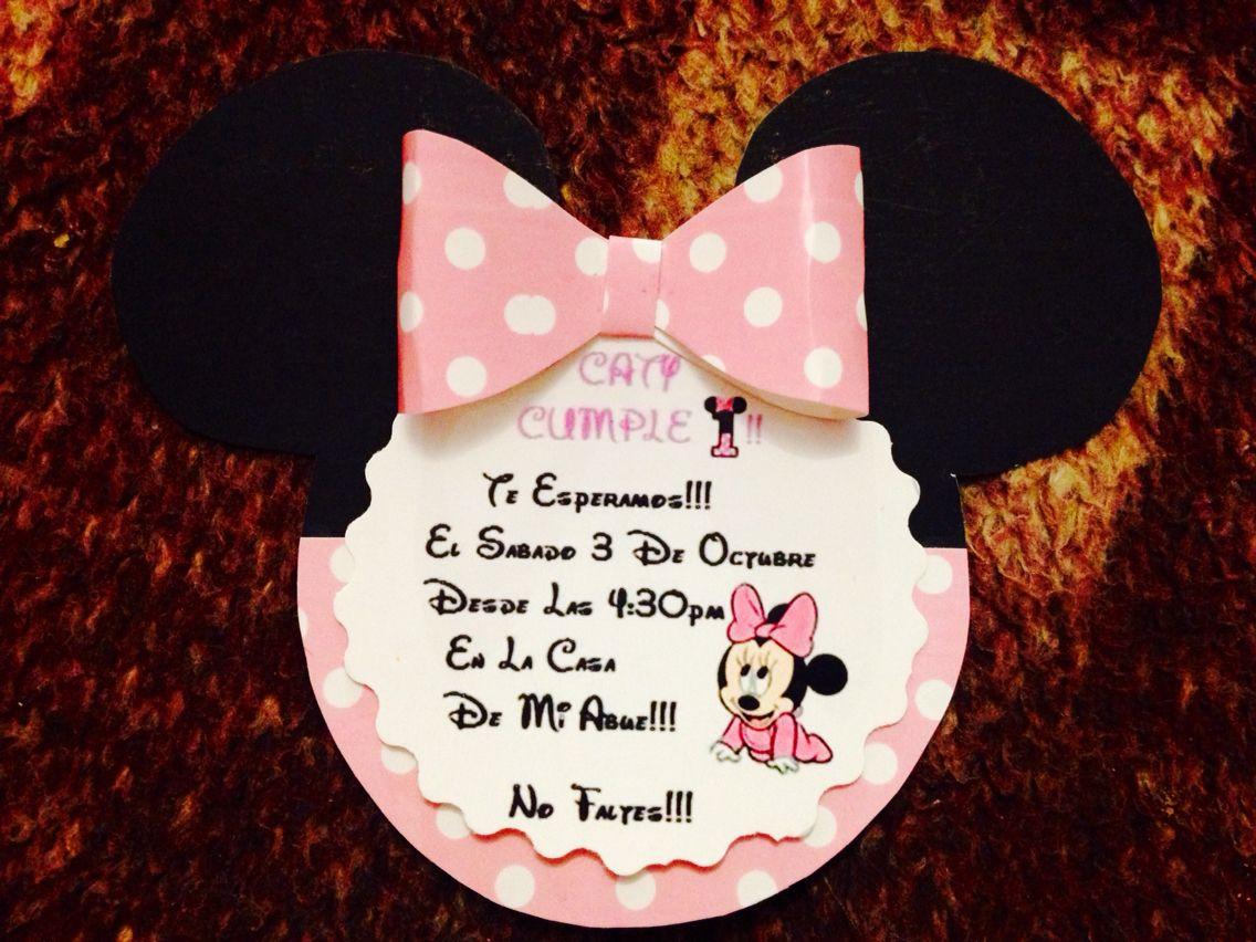 Hacer De Shower Para Baby Minnie Como Mouse Invitaciones