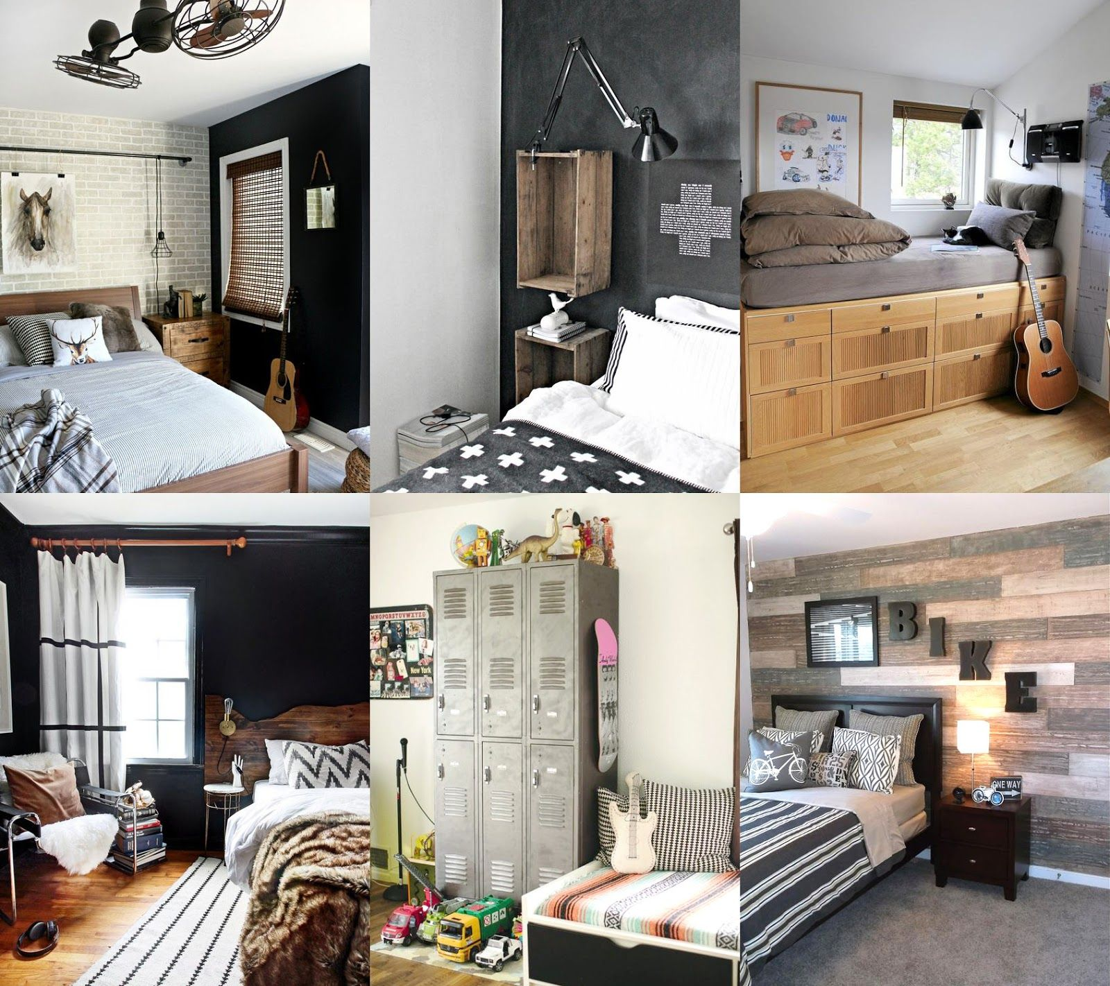 Idee per la camera di un ragazzo shabby chic interiors - Tende per camera ragazzo ...