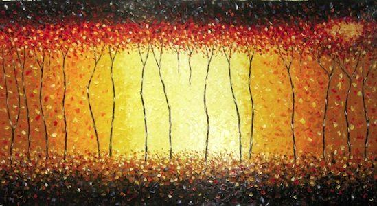 Art Paintings Original By Jane Crawford Huge Red fire Bush Australia aboriginal