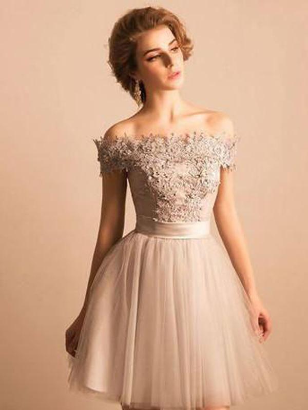 c2874e9e2f3 Cheap Lace Beaded Off Shoulder Cute Homecoming Dresses