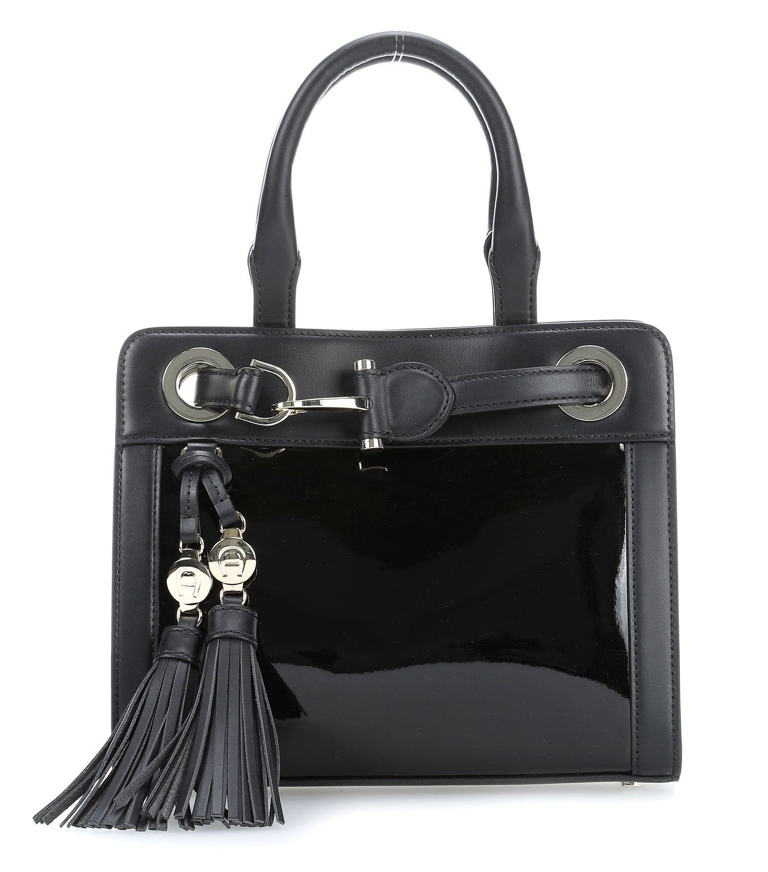 die besten 25 handtasche schwarz leder ideen auf pinterest handgefertigte ledertaschen. Black Bedroom Furniture Sets. Home Design Ideas