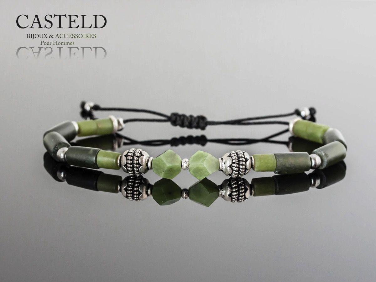 Dualité entre masculin et élégance, Envie de créer un bracelet homme en couleur et pierre naturelle. http://www.casteld.com/bijoux-homme #bracelethomme #menstyle #bijouxhommecasteld #perle