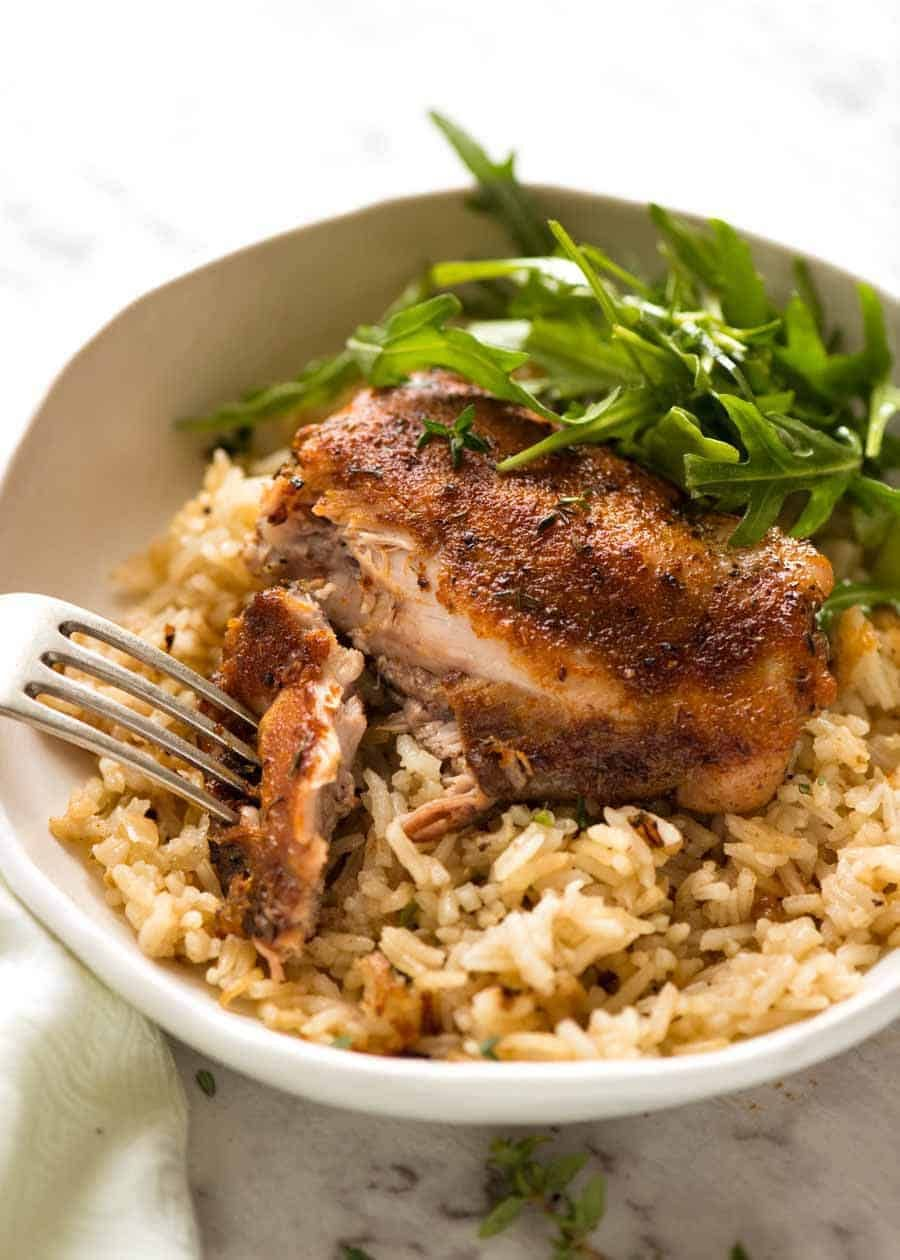 Oven Baked Chicken And Rice Recipe Recipetin Eats Chicken