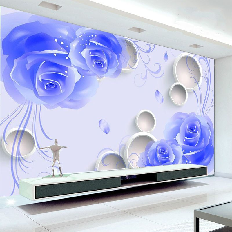 3d sitting room bedroom tv background rose flower embossed for Wallpaper home hardware