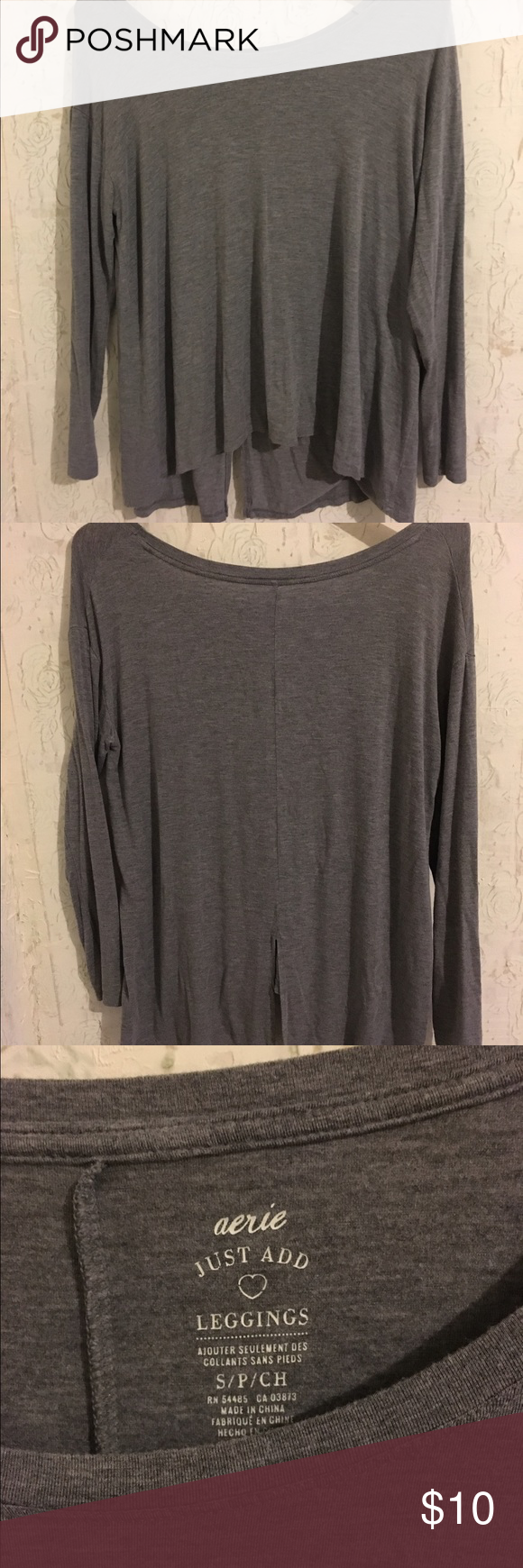 Size small American Eagle jogging tshirt Fits small-large, cute with leggings. Smoke free home. American Eagle Outfitters Tops Tees - Long Sleeve