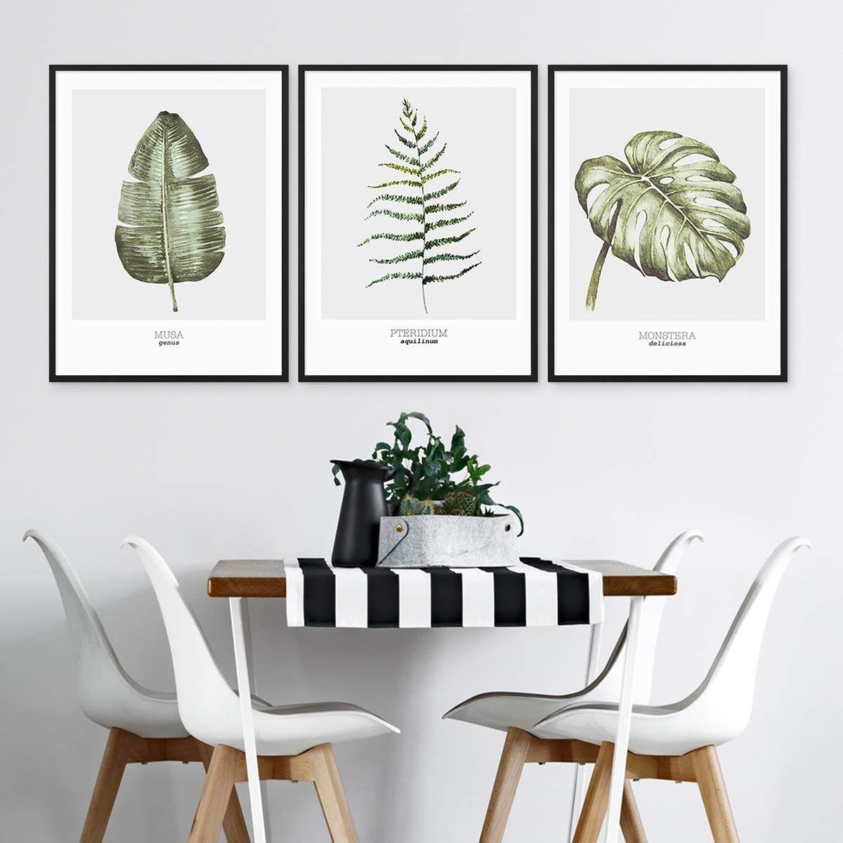 AFFILIATELINK | PHOTOLINI 3er Set Design Poster No.46 30x40 Cm Aquarell  Monstera Farn