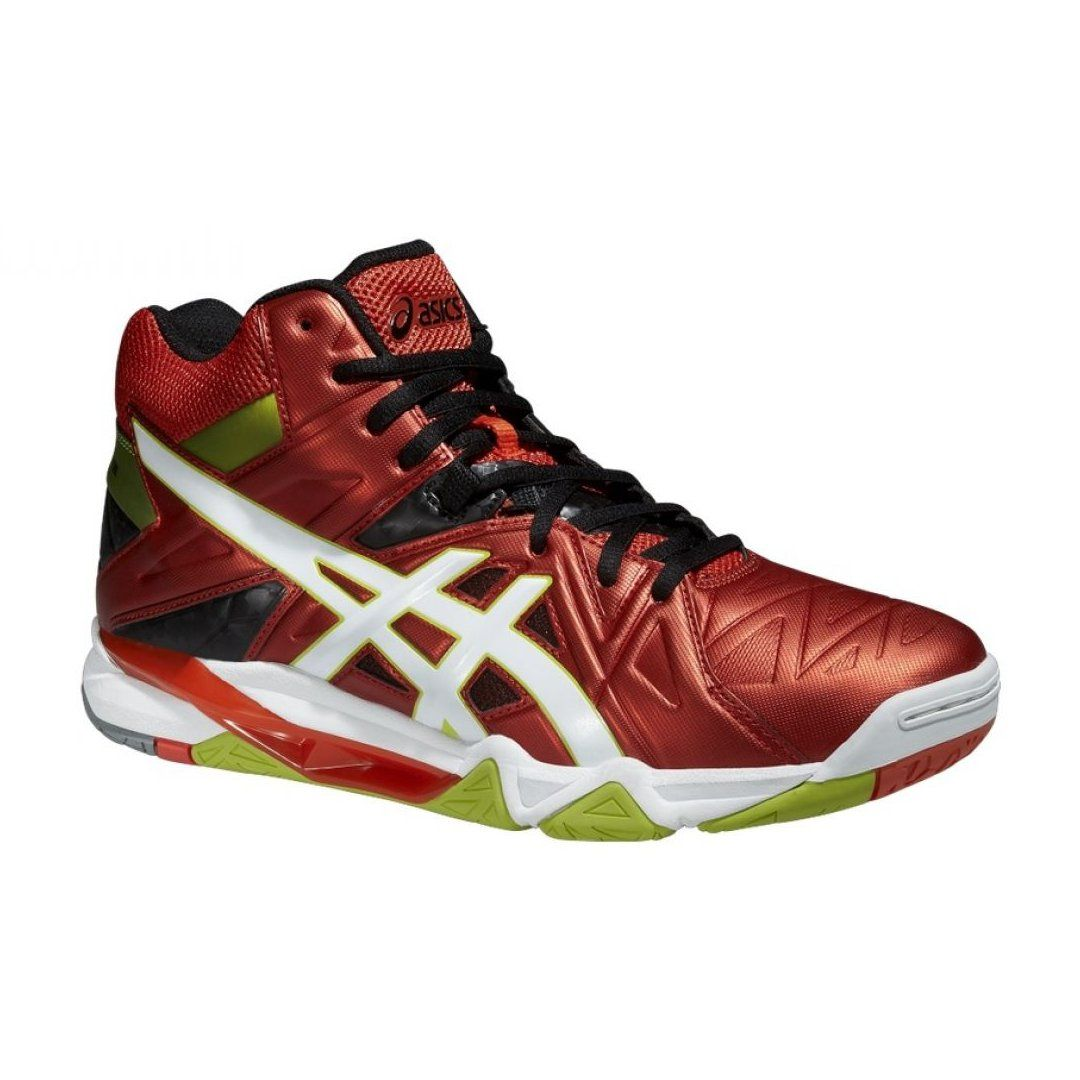 Volleyball Shoes Asics Gel Cyber Sensei 6 Mt M B503y 2101 Red Red With Images Volleyball Shoes Asics Gym Shoes