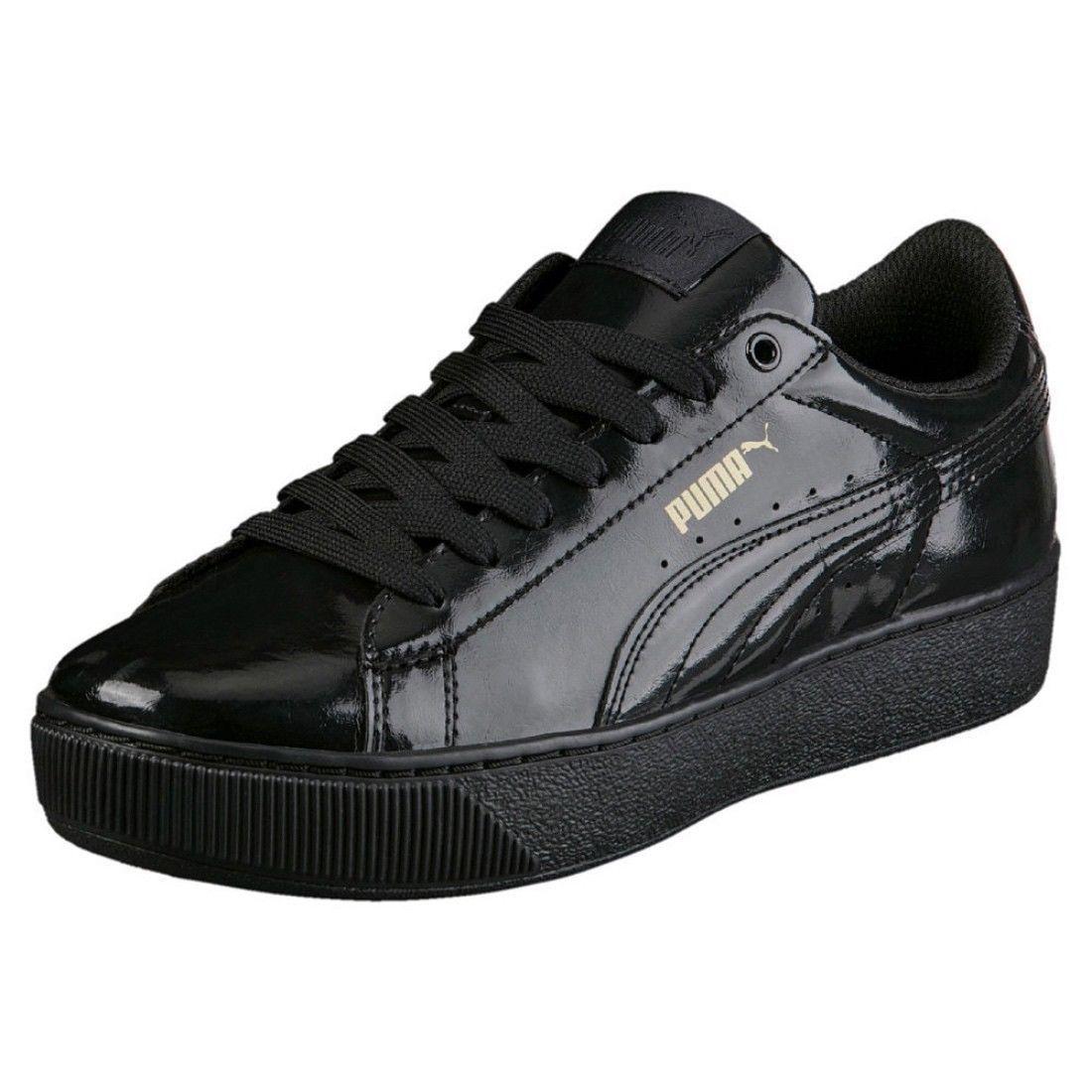 Puma Vikky Platform Patent Women's Sneakers Shoes Black