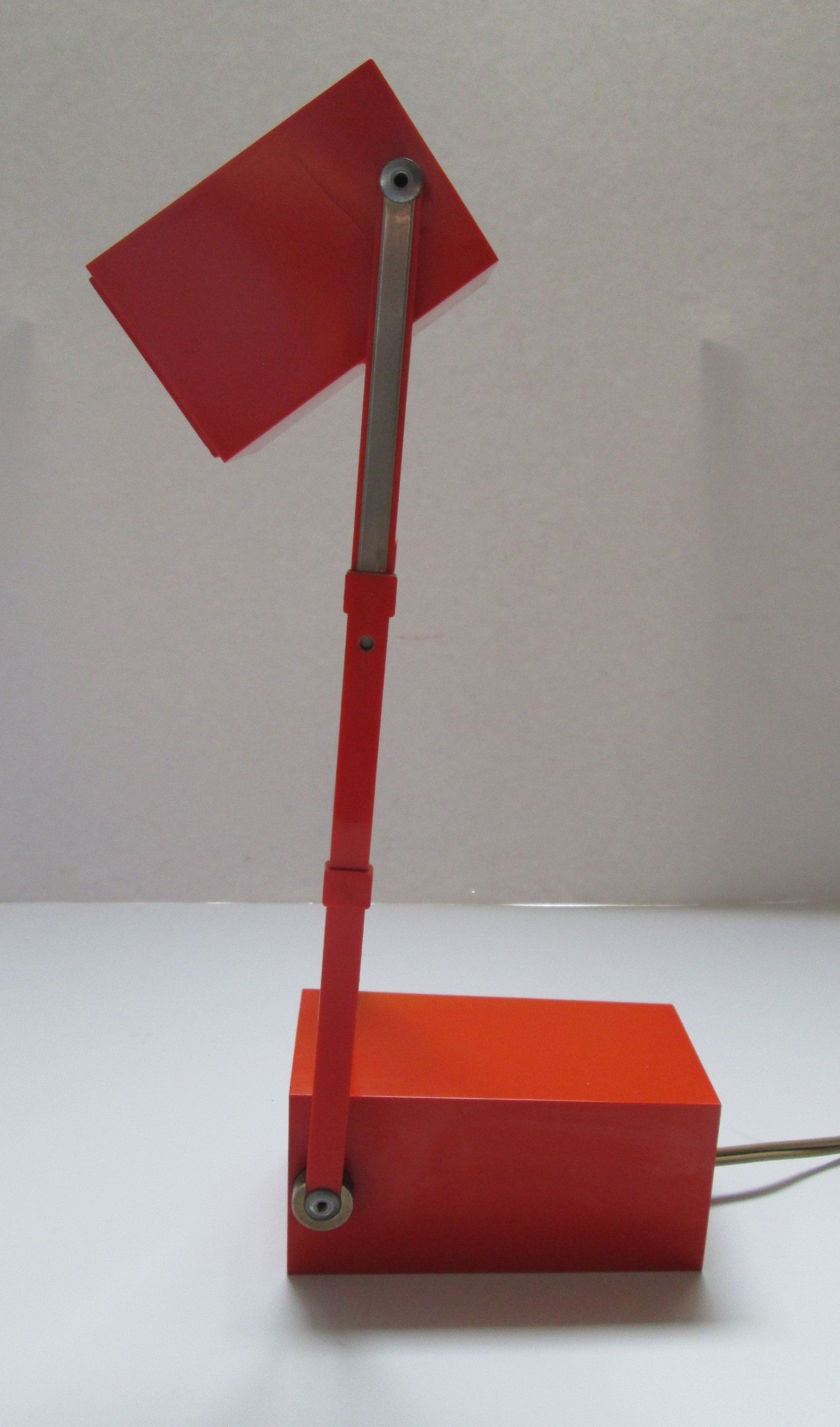 Danish Orange Lampetit Desk Lamp 1966 Verner Panton For Louis Etsy Desk Lamp Lamp Cool Floor Lamps