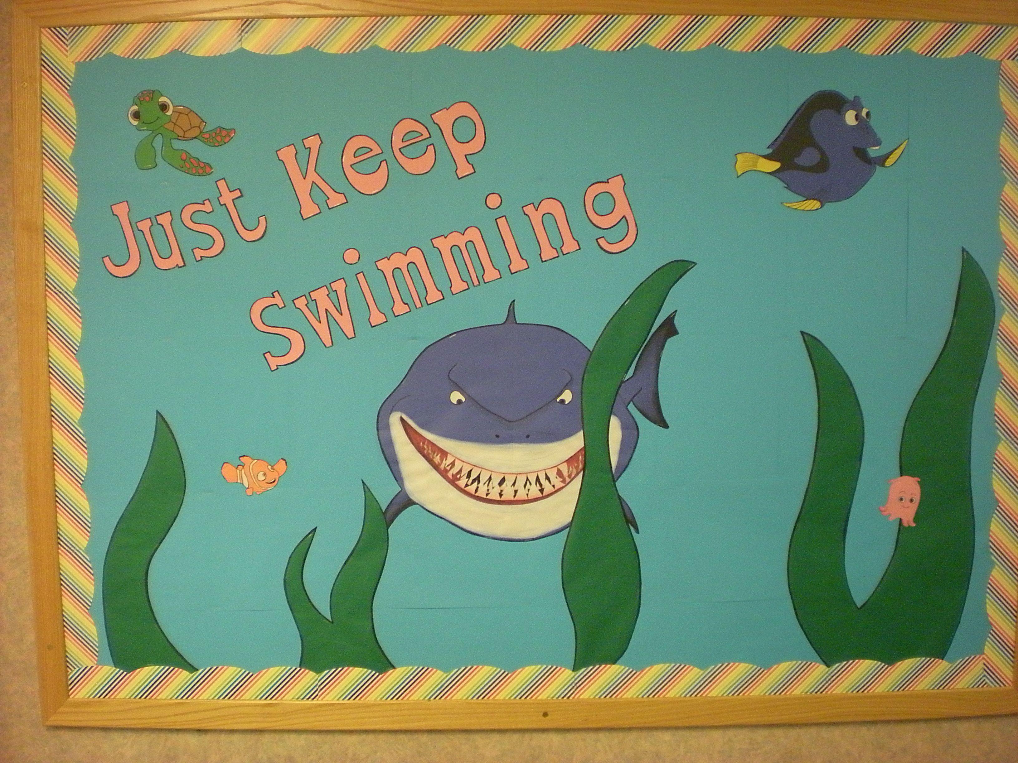 Finding Nemo Bulletin Board Just Keep Swimming