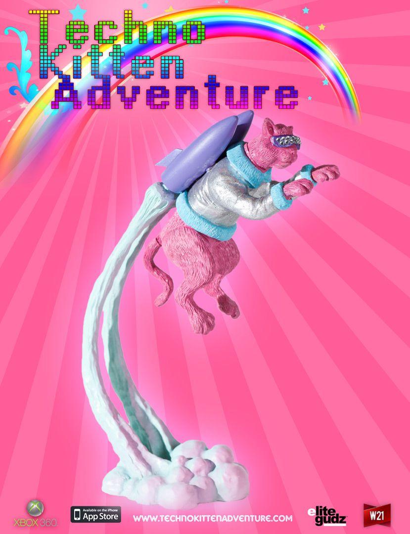 Techno Kitten Cartoon Video Games Techno Kitten