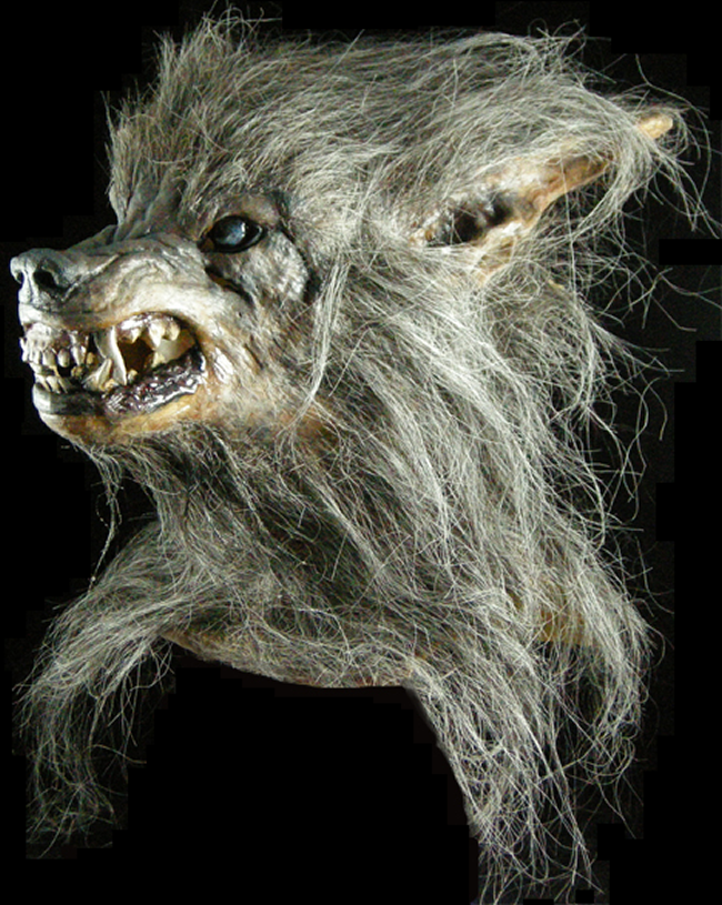 halloween mask bad moon werewolf make believe. Black Bedroom Furniture Sets. Home Design Ideas
