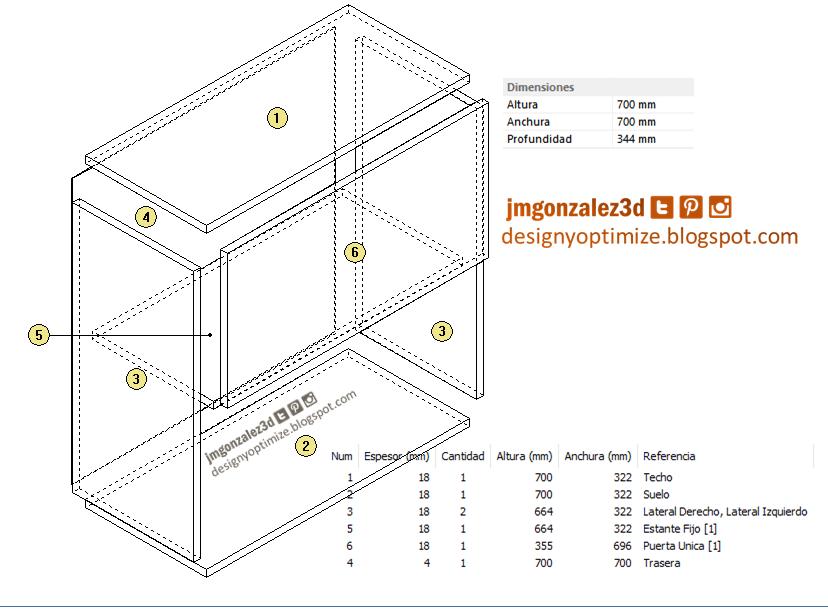 Mueble a reo con puerta batiente dise os de cocinas for Software diseno de cocinas integrales