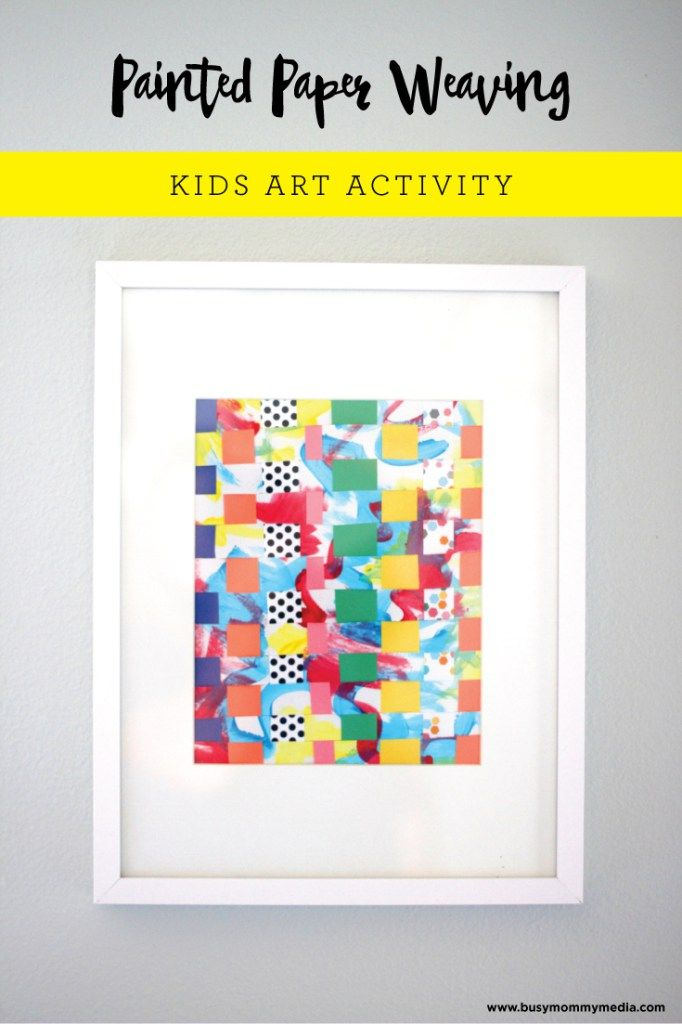 Kids Art Painted Paper Weaving For The Kiddos Paper Weaving