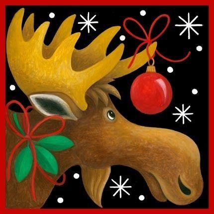 648f03f932df91e4a275cdf3c63021c7jpg 430430 pixels santa snowmen gingerbread people pinterest paintings moose and christmas paintings - Christmas Moose