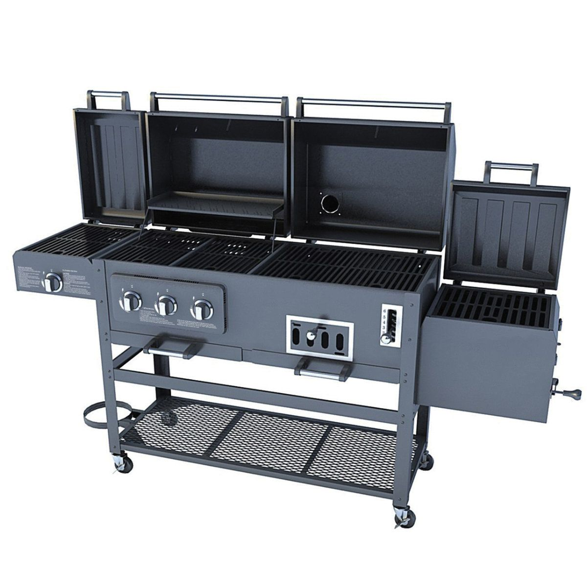 Gander Mountain Smoke Hollow Tri Mate Model 47180t Gas Charcoal Grill Smoker Camping Cooking Appliances Grills Accessories Grills Bbq Smoker Box