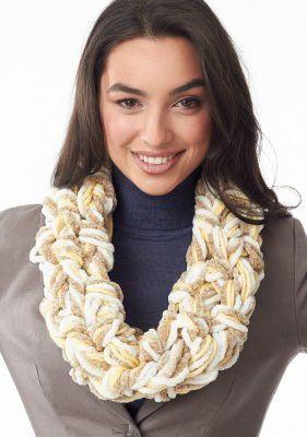 Free Cushy Seed Stitch Arm Knit Cowl Pattern