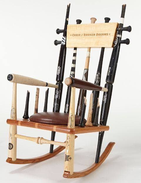 Great Chair Of Broken Dreams. Retirement Gift Presented By The Twins To Mariano  Rivera, Made