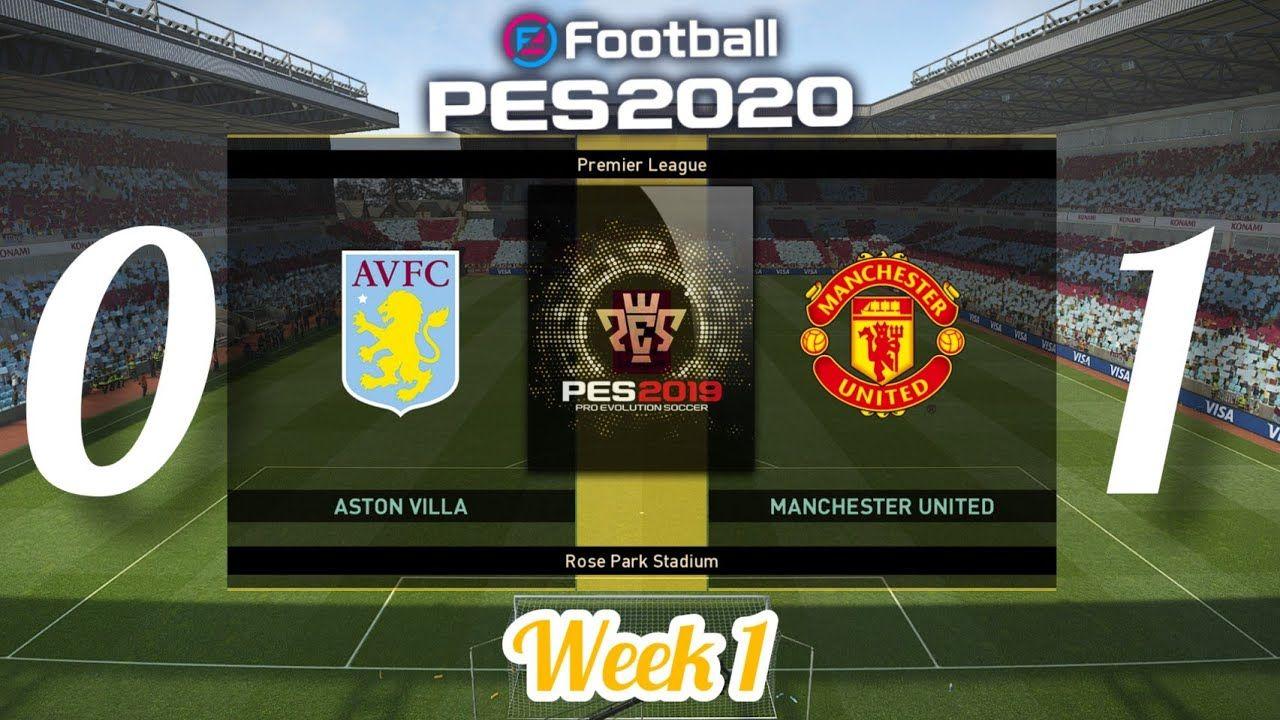 Aston Villa 0 Vs 1 Manchester United Premier League Season 2019 2020 In 2020 Aston Villa Manchester United Premier League Premier League